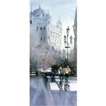 Barcelona- in den Ramblas 2016 I Aquarell I 30 x 60 cm