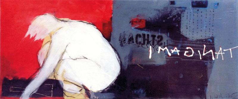 flmagination I 2015 I Acryl, Kreiden, Spray auf Leinwand I 120 x 40 cm