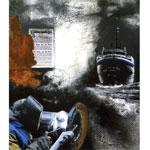 Hamburg Amerika Line I 2016 Collage, Acryl auf Leinwand I 70 x 80 cm