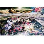 Landschaft I 2017 Fotografien mit Zeichnung auf Papier I 120 x 80 cm