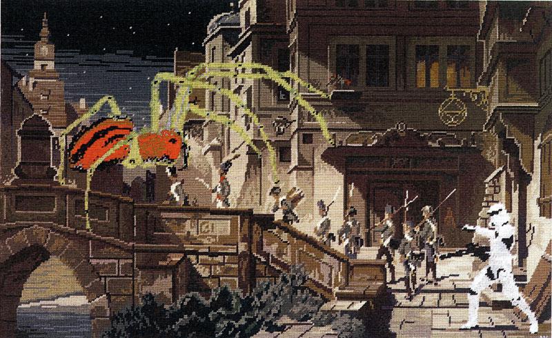 Nachtwache I 2012 Gobelinbild 84 x 52 cm