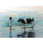 Unter dem Regenschirm 2016 I Acryl auf Leinwand 80 x 60 cm