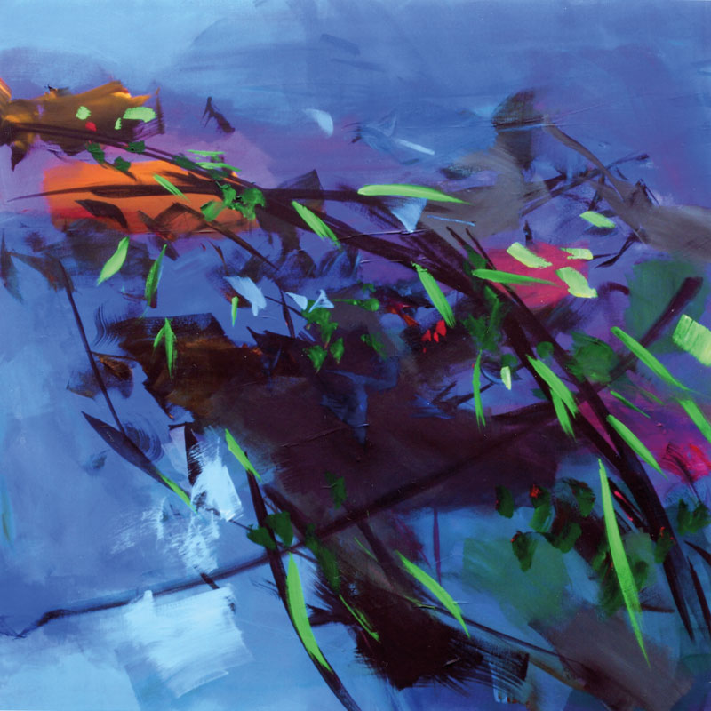 Water's edge II I 2017 Acryl auf Leinwand I 100 x 100 cm