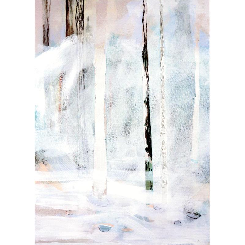 Wintersturm 1 I 2016 Mischtechnik auf Karton I 70 x 100 cm