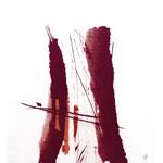 Ohne Titel I 2017 I Monotypie auf Leinwand I 50 x 50 cm
